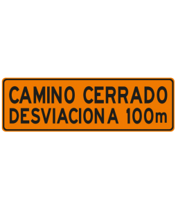 DPI-3 CAMINO CERRADO DESVIACIÓN A 100M