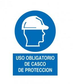 USO OBLIGATORIO DE DE CASCO DE PROTECCION
